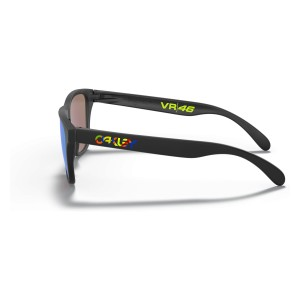 Frogskins XS (Youth Fit) Valentino Rossi Polished Black | PRIZM Sapphire | 9006-13